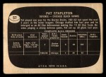 1966 Topps USA Test #57  Pat Stapleton  Back Thumbnail