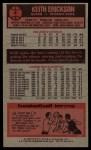 1976 Topps #4   Keith Erickson Back Thumbnail