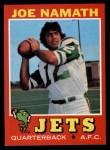 1971 Topps #250  Joe Namath  Front Thumbnail