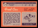 1970 Topps #238  Fred Cox  Back Thumbnail