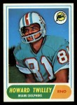 1968 Topps #39   Howard Twilley Front Thumbnail