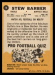 1967 Topps #18   Stew Barber Back Thumbnail