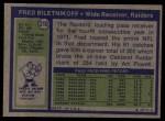 1972 Topps #210   Fred Biletnikoff Back Thumbnail