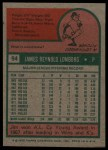 1975 Topps #94   Jim Lonborg Back Thumbnail