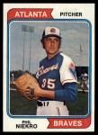 1974 Topps #29  Phil Niekro  Front Thumbnail