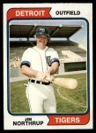1974 Topps #266   Jim Northrup Front Thumbnail