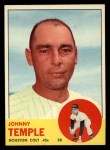 1963 Topps #576  Johnny Temple  Front Thumbnail