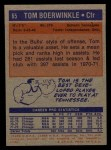 1972 Topps #65   Tom Boerwinkle  Back Thumbnail
