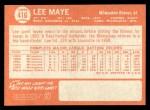 1964 Topps #416   Lee Maye Back Thumbnail
