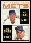 1964 Topps #398   Mets Rookie Stars  -  Bill Haas / Dick Smith Front Thumbnail