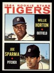 1964 Topps #512   Tigers Rookie Stars  -  Willie Horton / Joe Sparma Front Thumbnail