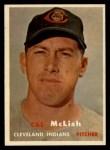 1957 Topps #364   Cal McLish Front Thumbnail