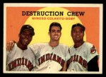 1959 Topps #166  Destruction Crew  -  Minnie Minoso / Rocky Colavito / Larry Doby Front Thumbnail