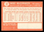 1964 Topps #487  Mike McCormick  Back Thumbnail