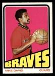 1972 Topps #39  Mike Davis   Front Thumbnail