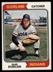 1974 Topps #284   Dave Duncan Front Thumbnail