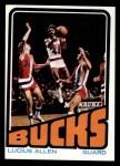 1972 Topps #145   Lucius Allen  Front Thumbnail