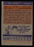 1972 Topps #134  Ken Durrett   Back Thumbnail