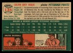 1954 Topps #134   Cal Hogue Back Thumbnail
