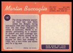 1970 Topps #187   Martin Baccaglio Back Thumbnail