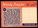 1970 Topps #207   Woody Peoples Back Thumbnail