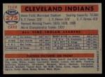 1957 Topps #275   Indians Team Back Thumbnail