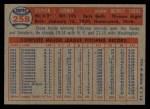1957 Topps #258   Steve Gromek Back Thumbnail