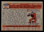 1957 Topps #84   Moe Drabowsky Back Thumbnail