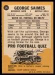 1967 Topps #26   George Saimes Back Thumbnail