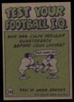 1972 Topps #348  Pro Action  -  George Blanda Back Thumbnail