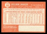 1964 Topps #446   Julian Javier Back Thumbnail