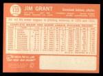 1964 Topps #133   Jim Mudcat Grant Back Thumbnail