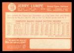 1964 Topps #165   Jerry Lumpe Back Thumbnail