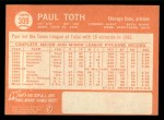 1964 Topps #309 ERR  Paul Toth Back Thumbnail