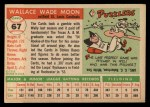 1955 Topps #67 ERR Wally Moon  Back Thumbnail