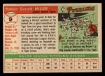 1955 Topps #9  Bob Miller  Back Thumbnail