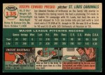 1954 Topps #135  Joe Presko  Back Thumbnail