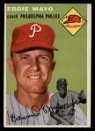 1954 Topps #247   Eddie Mayo Front Thumbnail