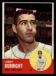1963 Topps #174   Larry Burright Front Thumbnail