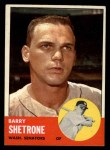 1963 Topps #276  Barry Shetrone  Front Thumbnail