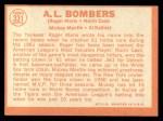 1964 Topps #331  AL Bombers  -  Roger Maris / Norm Cash / Mickey Mantle / Al Kaline Back Thumbnail