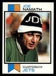 1973 Topps #400   Joe Namath Front Thumbnail