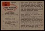 1954 Bowman #35  Fred Morrison  Back Thumbnail