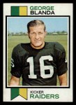 1973 Topps #25  George Blanda  Front Thumbnail