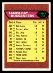 1976 Topps #477   Buccaneers Team Checklist Front Thumbnail