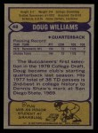 1979 Topps #48  Doug Williams  Back Thumbnail