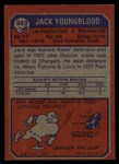 1973 Topps #343   Jack Youngblood  Back Thumbnail