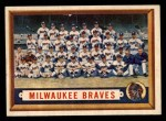 1957 Topps #114  Braves Team  Front Thumbnail