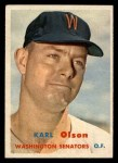 1957 Topps #153   Karl Olson Front Thumbnail