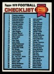 1979 Topps #114  Checklist 1-132  Front Thumbnail